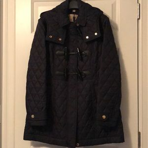 Authentic Burberry diamond quilted duffle coat